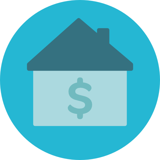 Dollar house png. Mortgage icon page svg