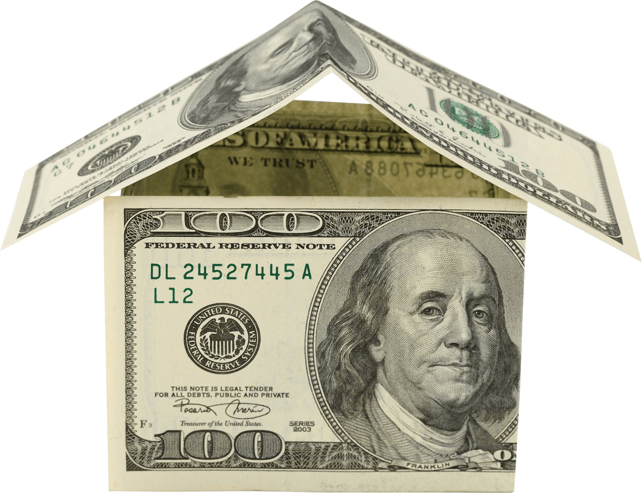 Dollar house png. Money dollars transparent stickpng