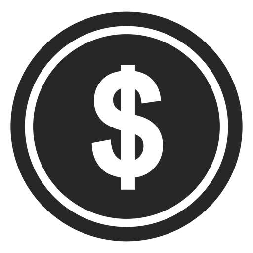 Vector coin crypto. Dollar currency icon transparent