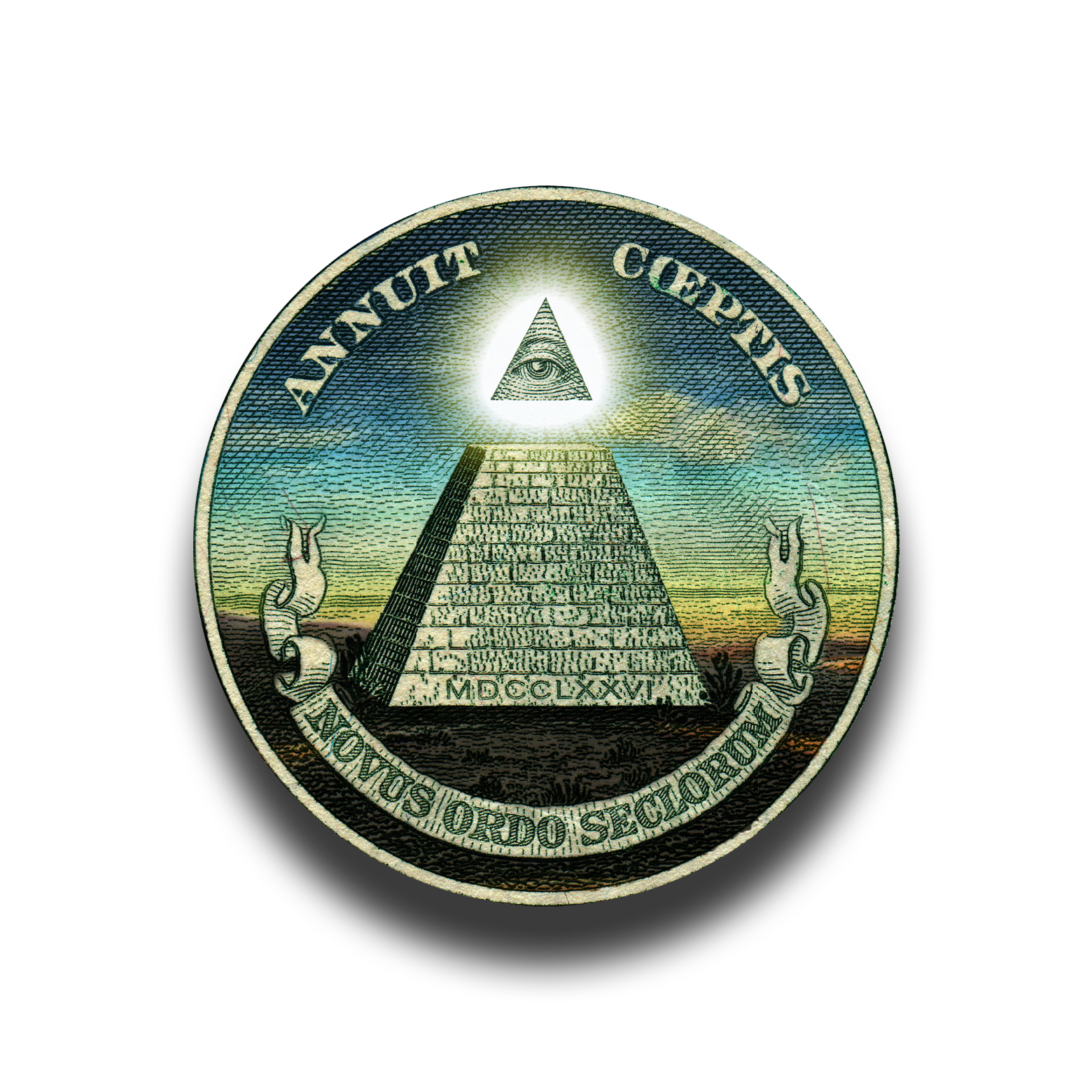 Dollar pyramid png. An unfinished i have