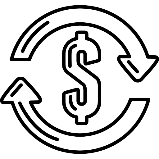 Dollar sign drawing png. With clockwise circle of
