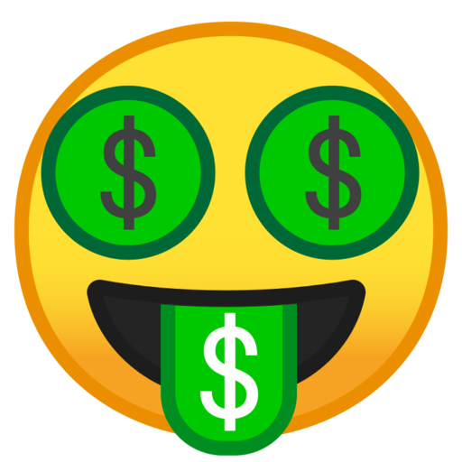 Money tongue emoji png. What does