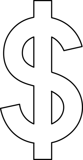 Dollar sign png free. Line art clip