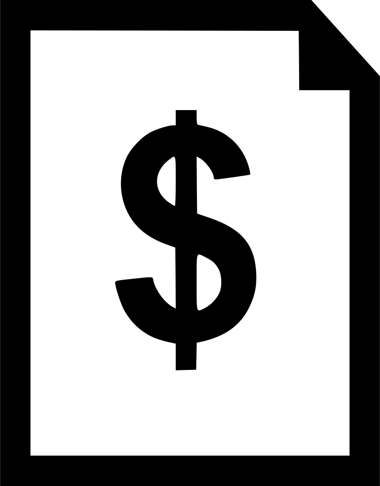 Dollar sign png icon. Document svg free download