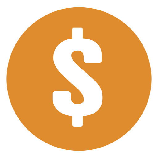 Dollar sign vector png. Yellow circle transparent svg