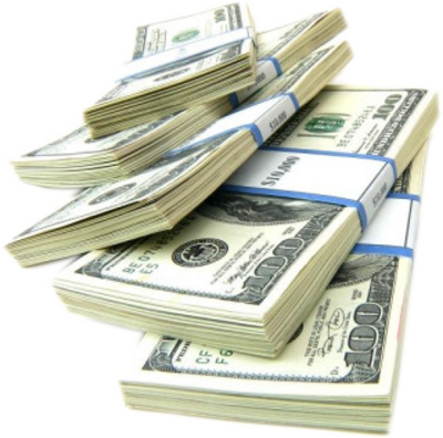 Dollar transparent money stacks. Free pictures of psd