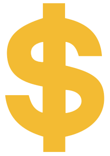 Dollar transparent orange. Png in high resolution
