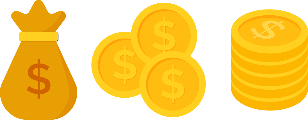 Dollars clipart dollar coin. Coins png transparent free