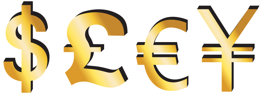 Dollars clipart pound. Download dollar euro yen