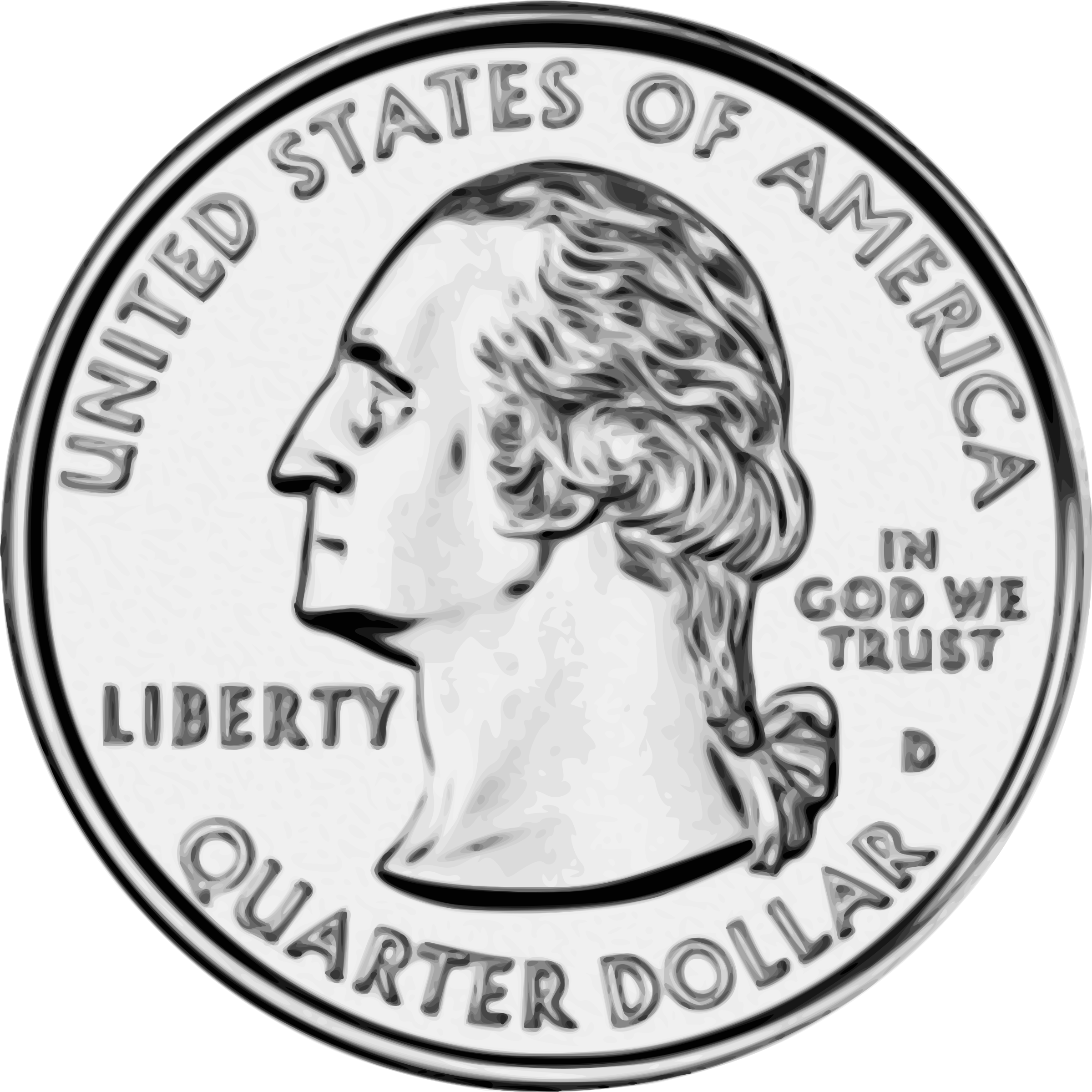 Quarter drawing front. Dollar clipart note clip