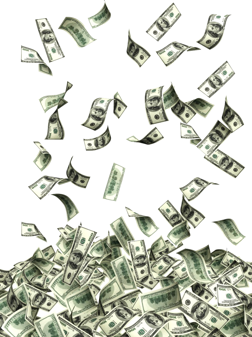 Dollars falling png. Download flying photos hq
