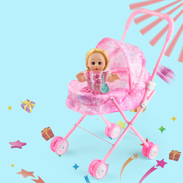 Iron pink trolley toy. Dolls clipart baby doll vector library stock