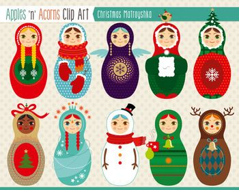 dolls clipart christmas