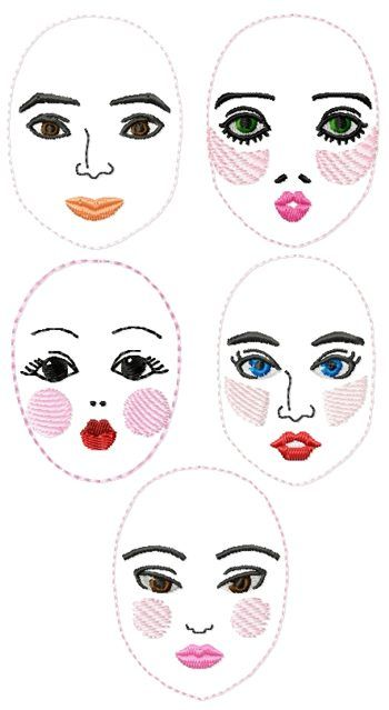 Dolls clipart doll face. Best munecas images