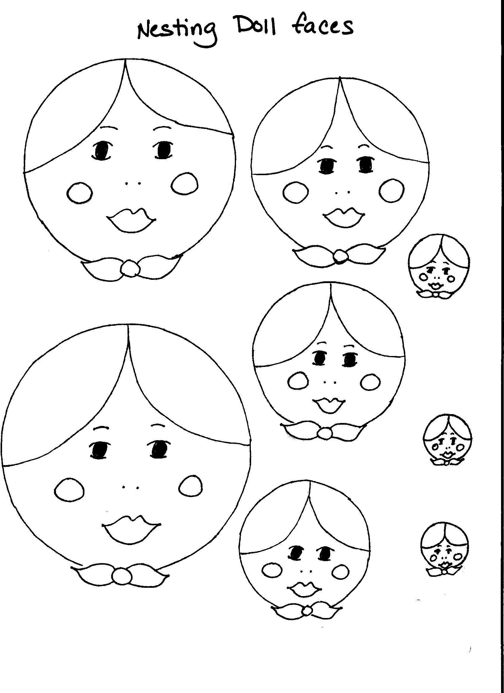 Dolls clipart doll face. Faces drawing at getdrawings