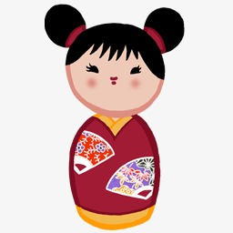 Japanese japan png image. Dolls clipart red doll clip art library stock