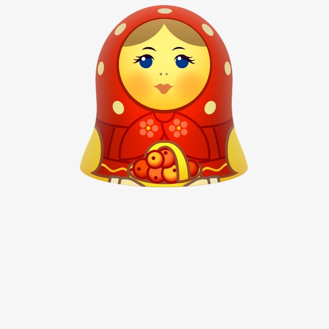 Dolls clipart red doll. Russian tumbler girl png