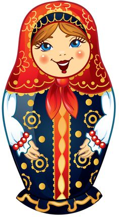 Dolls clipart red doll. Matryoshka russian nesting vector