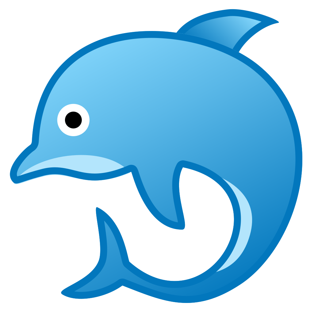 Dolphin browser icon png. Noto emoji animals nature