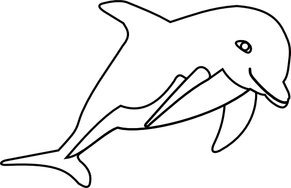 Porpoise drawing step by. Cute baby dolphin clipart