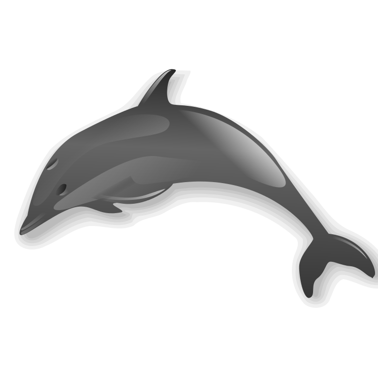 Dolphin clipart bottlenose dolphin. File svg wikimedia commons