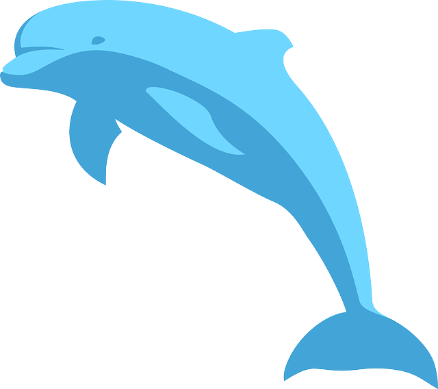Dolphin clipart comic. Free image on pixabay
