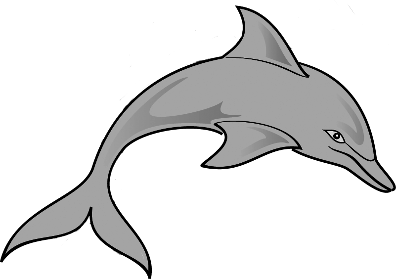 Dolphin clipart cool. Clip art black and