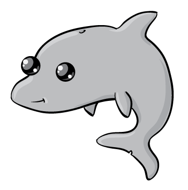 Dolphin clipart cool. Cute baby library free