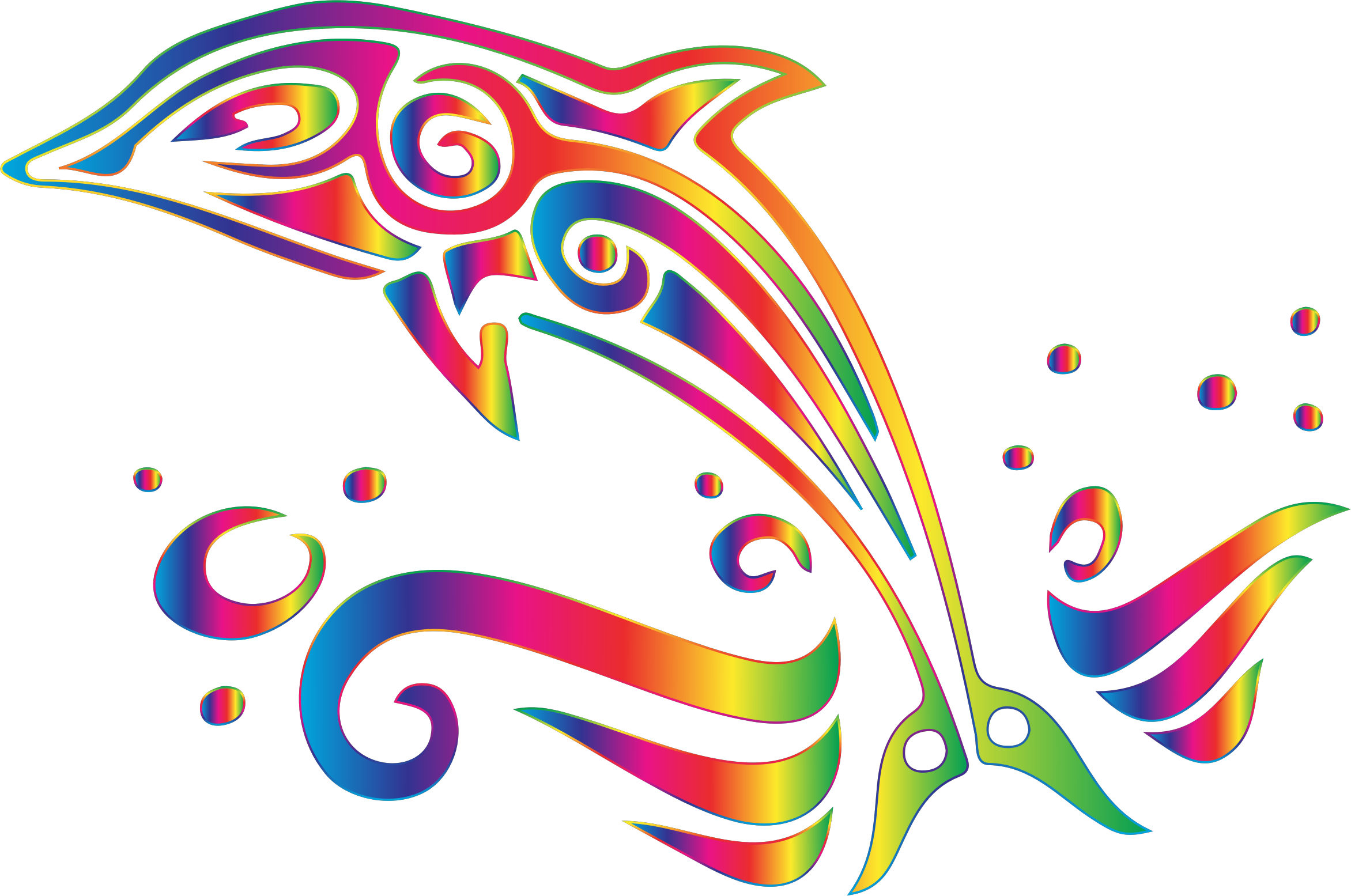 Dolphin clipart line. Chromatic tribal no background