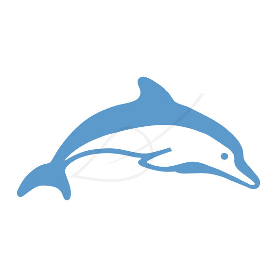 Dolphin clipart real dolphin. Digital stamp clip art