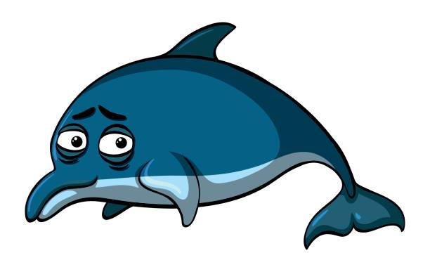 Dolphin clipart sad. Dolphins pencil and in