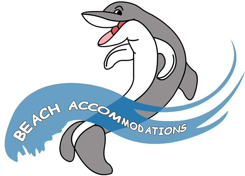 Dolphin clipart vacation florida. Beach accommodations rentals fort