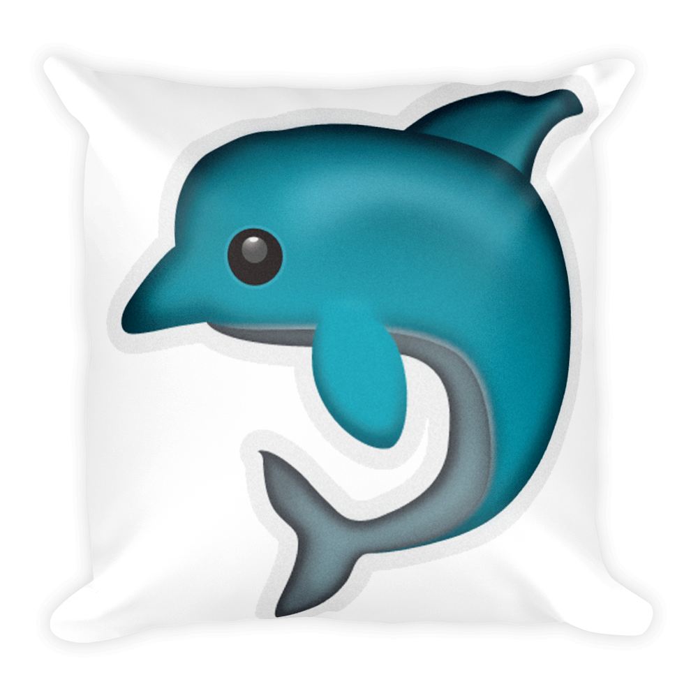 Dolphin emoji png. Pillow just