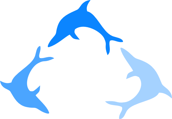 Dolphin logo png. Blue clip art at