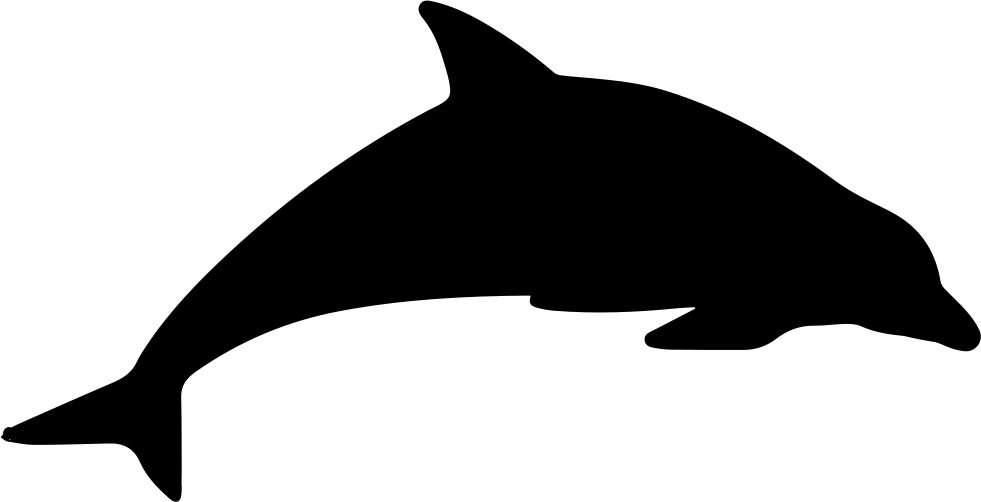 Porpoise drawing statement. Dolphin mammal animal silhouette