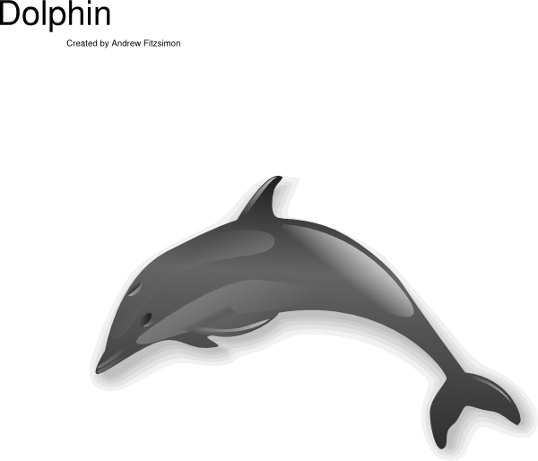 porpoise drawing clipart