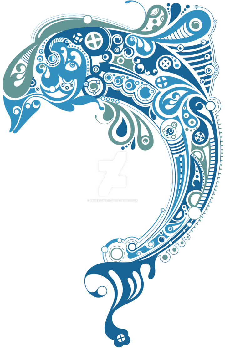 Dolphin vector png. Blue pattern by artbeautifulcloth