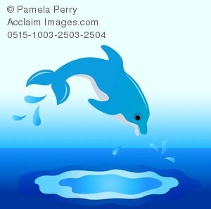 Dolphins clipart dolphin diving. Clip art image of