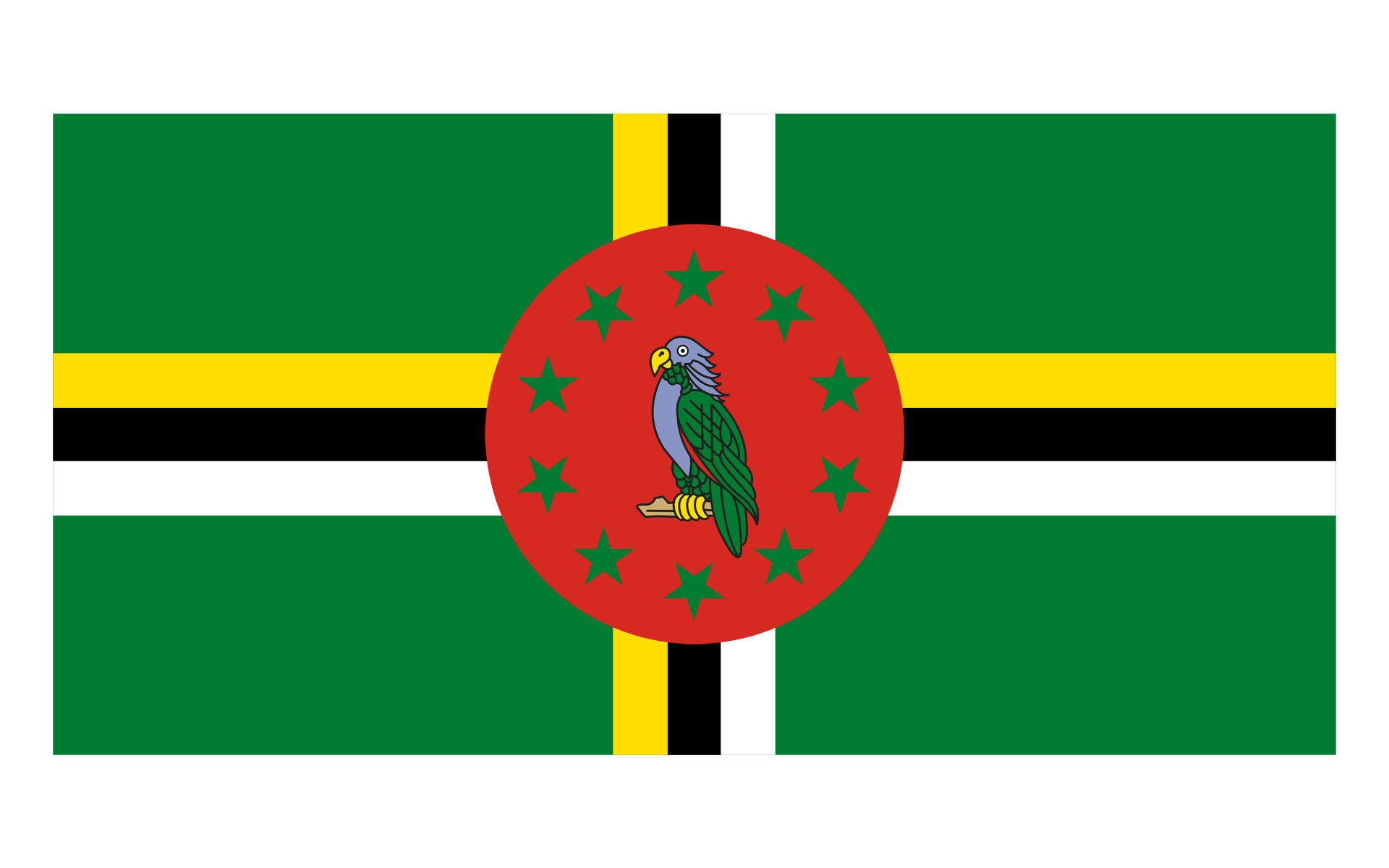 Dominica flag png. Drawing the not dominican