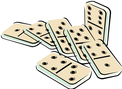 Domino clipart animated. Playing dominoes