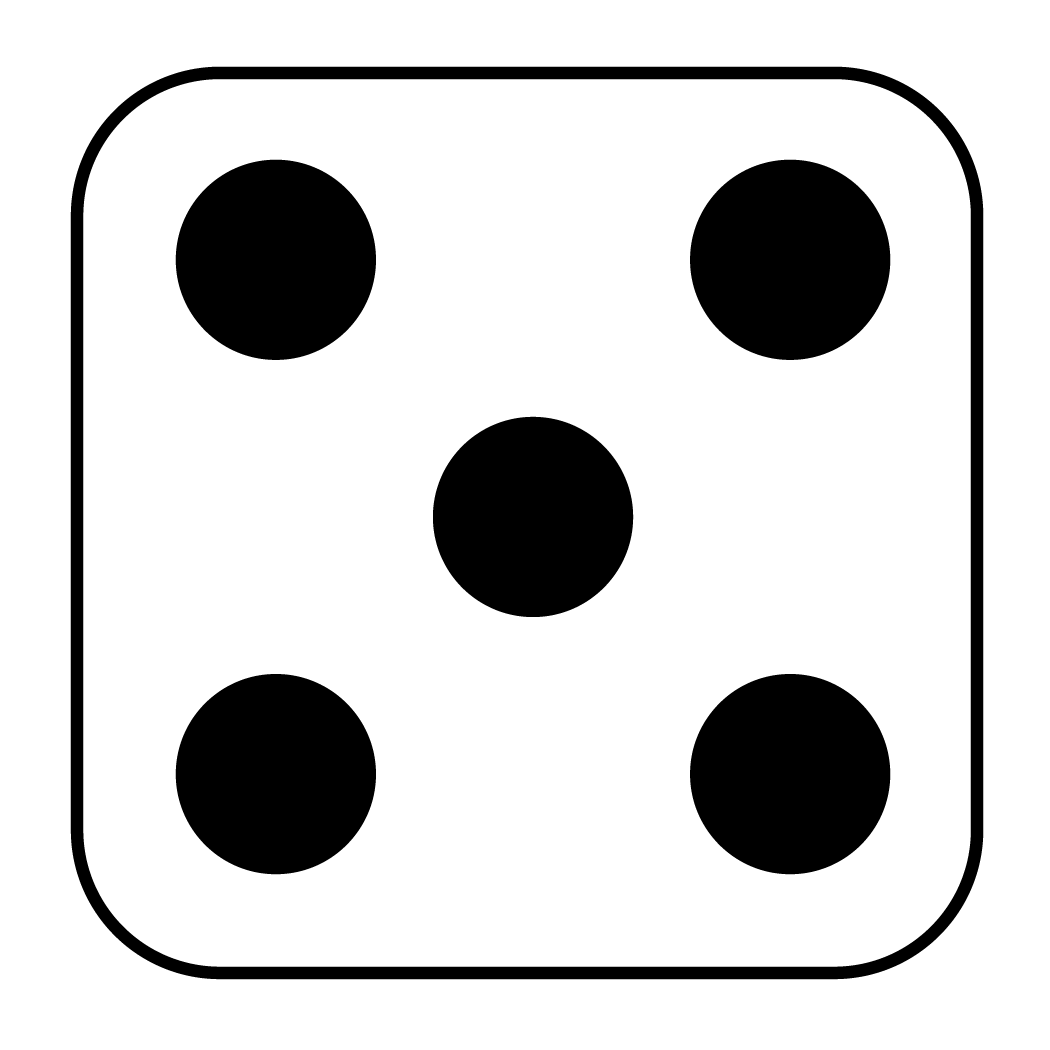 Drawing dice six dot. Clipart clip arts