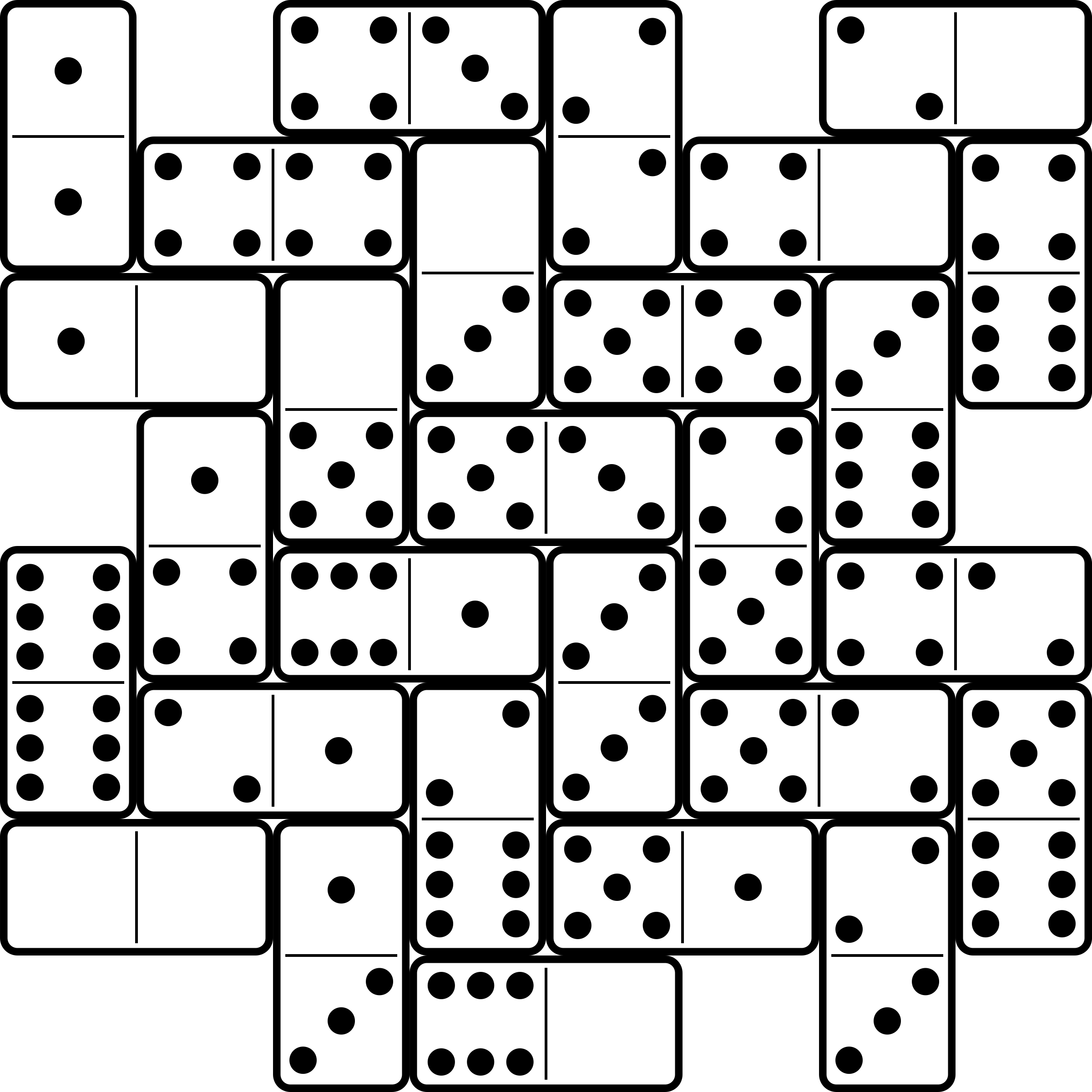 domino clipart set