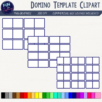 Domino clipart template. Game templates by fun