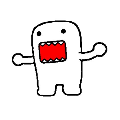Domo drawing. Template roblox