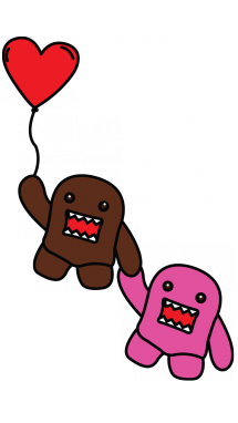 Domo drawing. How to draw valentines