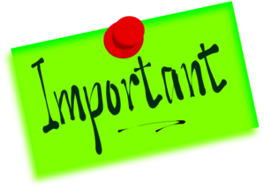 Important clipart. Free cliparts class reminders