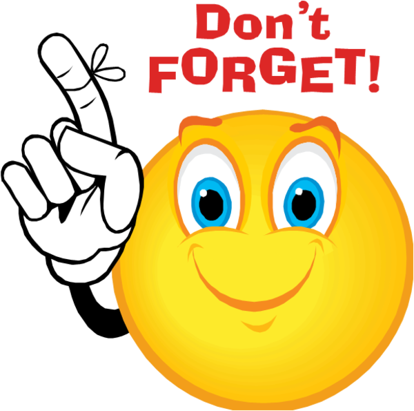 Don t forget clipart remember me. Dont smiley free images