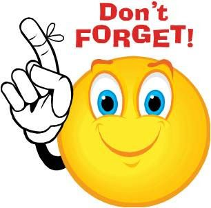 Don t forget clipart reminder sign. Smiley face emotions clip