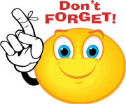 Reminder clipart don t forget. Free images giveaway ending