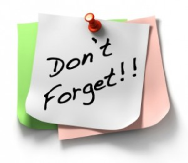 Reminder clipart board meeting. Sticky dont forget note
